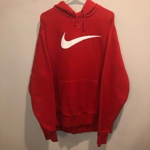 Nike pullover hoodie red big check mark 2XL